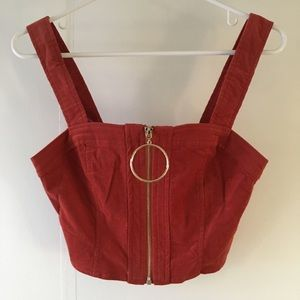 Micro Corduroy Crop Top